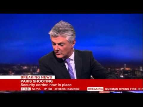 nice BBC Breaking News - 13/11/15 Paris Terror Attacks part 1 (9pm to 9:15pm)