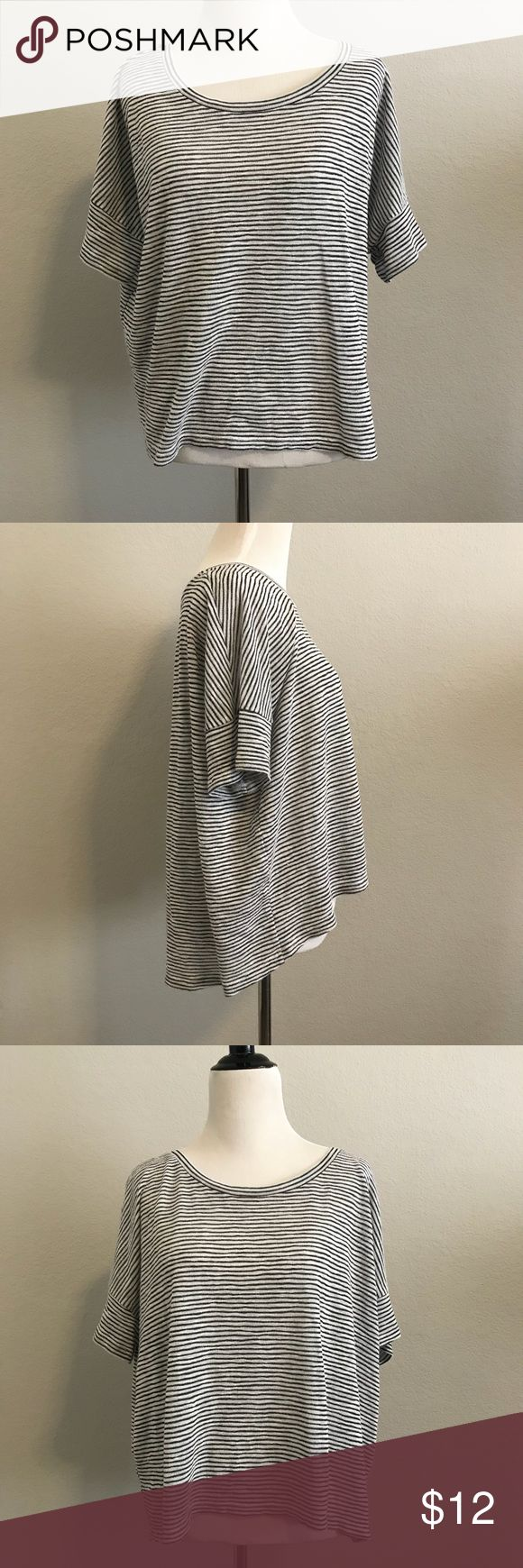Batwing Top Comfy striped batwing top. Semi sheer. Great condition. Tops Blouses
