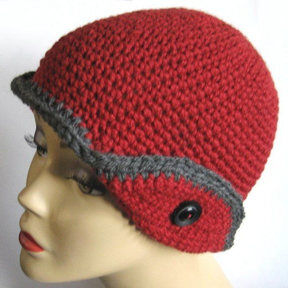 hatter crochet crochet knit hats bell hook red crochet crochet style ...