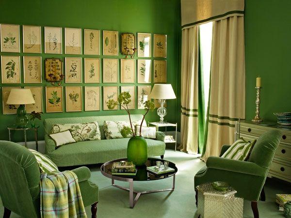 Create A Leaf Green Living Room