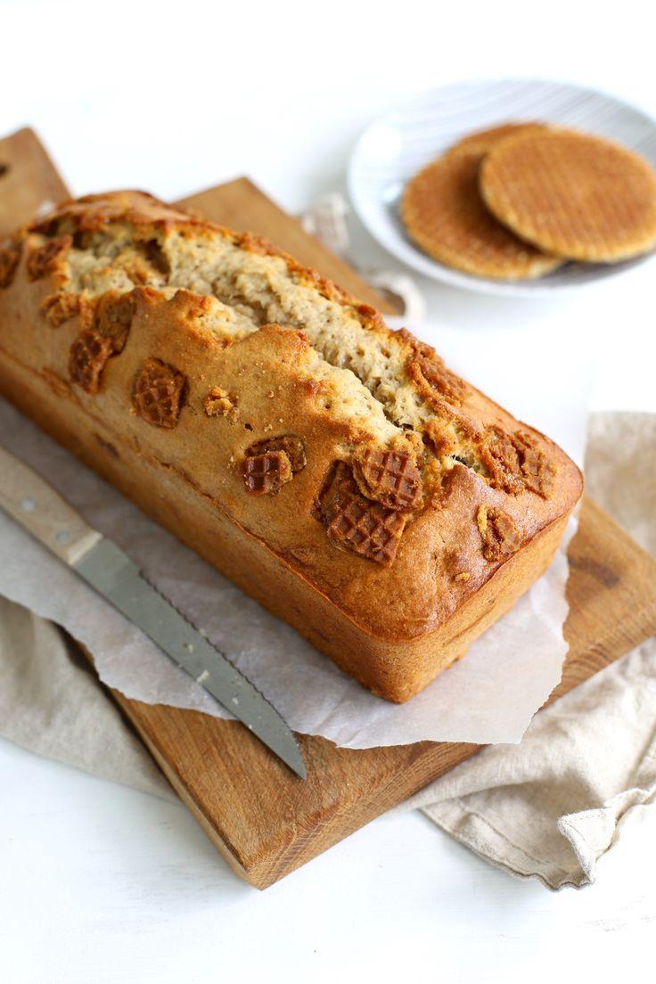 Stroopwafel-bananenbrood
