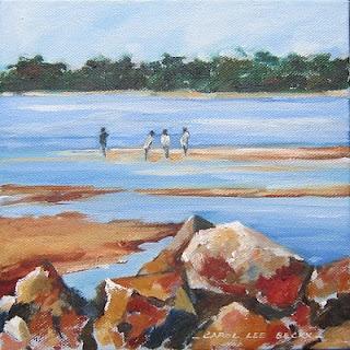 "Brighton Park - oil on canvas   8"" x 8"""
