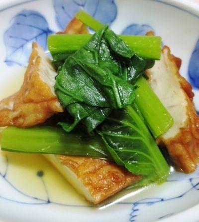 小松菜とさつま揚げの煮物<優しい味わい> by syu♪さん | レシピ ...