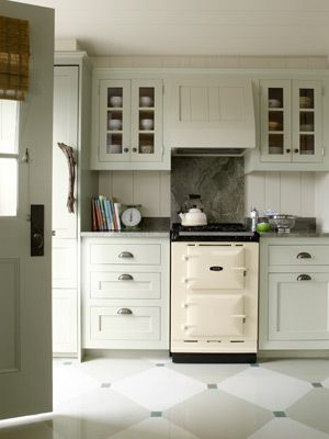 Coastal Decorating Ideas - Beach Cottage Design - Country Living LOVE THE LITTLE AGA RANGE!!!!