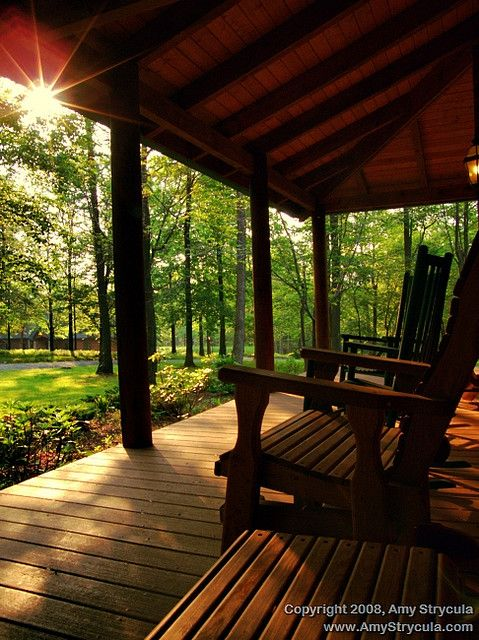 My home will have a big porch across the front of the house. Complete with a swing or two.