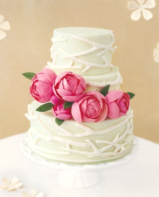 branches: Ideas, Weddings, Wedding Cakes, Beautiful Cakes, Flowers, Pink Peonies, Spring Wedding Cak, Branches, Rose Cakes