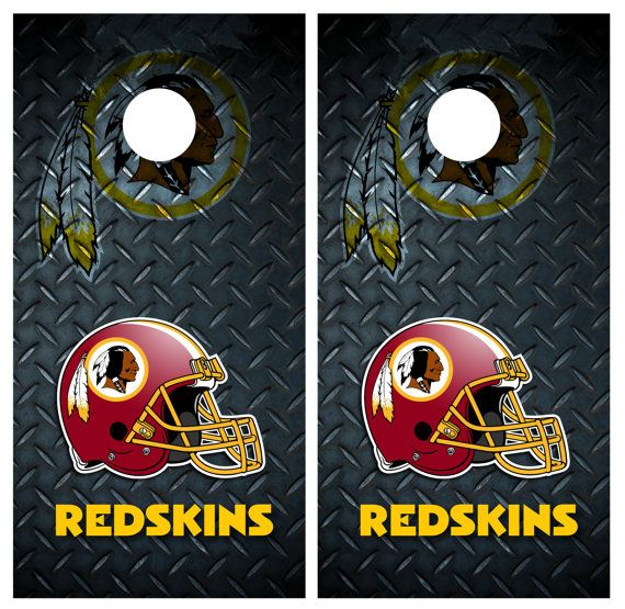 washington redskins diamond plate cornhole by cornhole - Cornhole Board Wraps