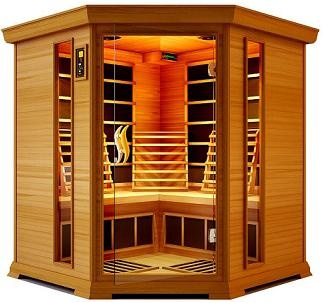 We LOVE our new infrared sauna. It is a beautiful, dry heat that gets you sweating buckets in half the time as a regular sauna. With no moisture or water  to deal with, it's hassle free and easy to care for. Plus...who doesn't like burning 200