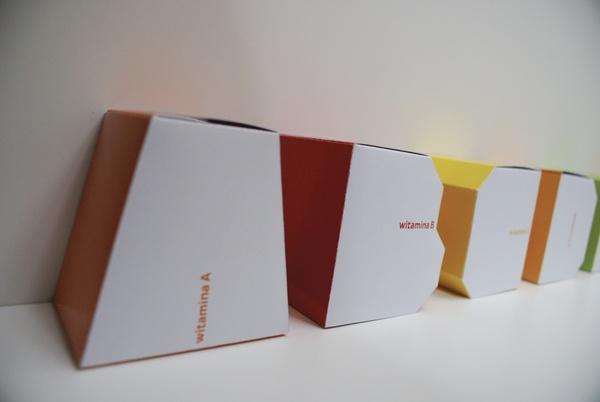 vitamin boxes by Viktoriya Gadomska, via Behance