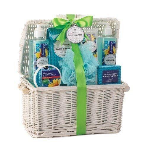 Blueberry & Sunflower Spa Basket (pack of 1 SET)