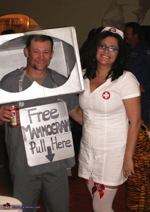 Mammogram Machine and Nurse - DIY Halloween Costume