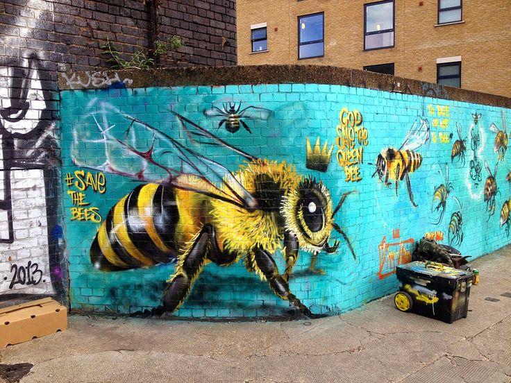 ALLPE Medio Ambiente Blog Medioambiente.org : Ayudar a las abejas pintando la ciudad de abejas