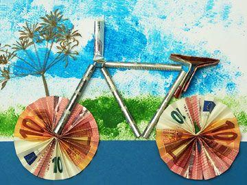 fahrrad als geldgeschenk geldgeschenke pinterest gift