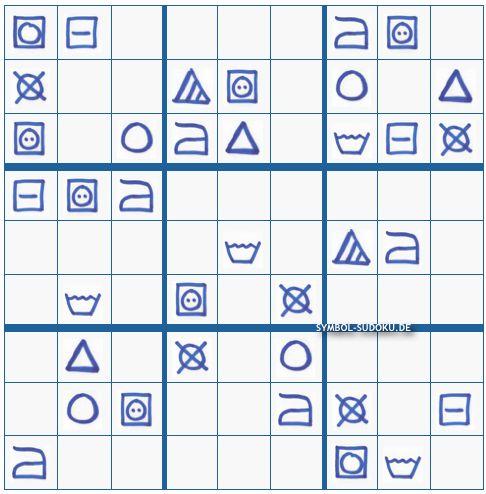 Sudoku lösen kostenlos mit Waschzettelsymbole