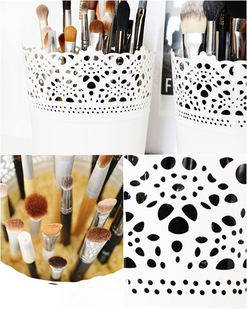 Corral Your Makeup Brushes
