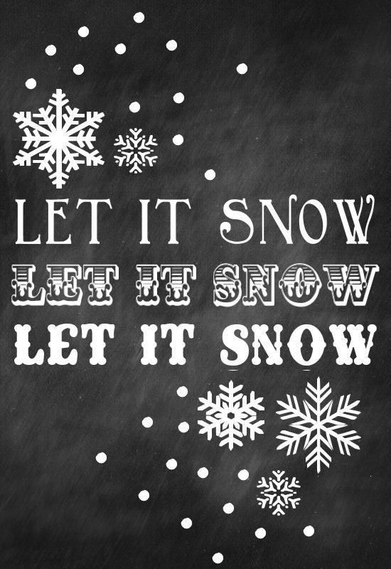 Let It Snow Print - Free download on { lilluna.com }