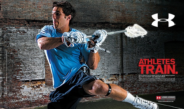 Athletes train. Under Armour helps.