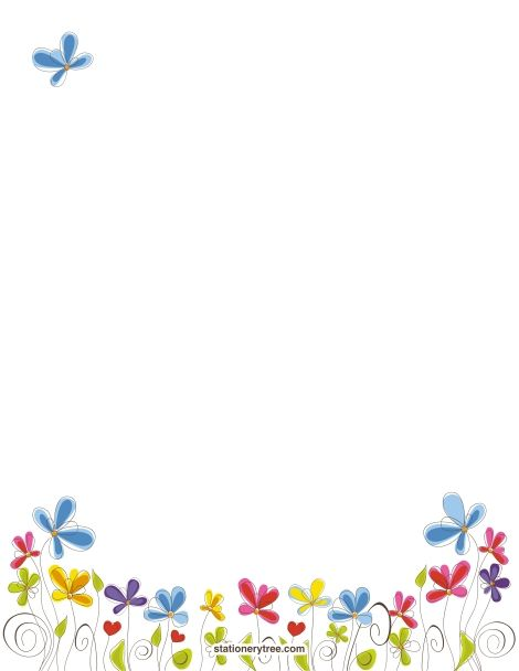 Printable floral stationery and writing paper. Free PDF downloads at http://stationerytree.com/download/floral-stationery/.