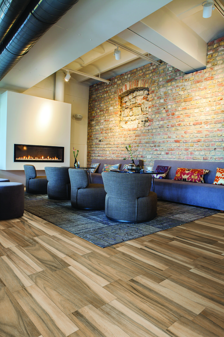 Add a rustic touch to any contemporary space with daltile Contemporary flooring ideas