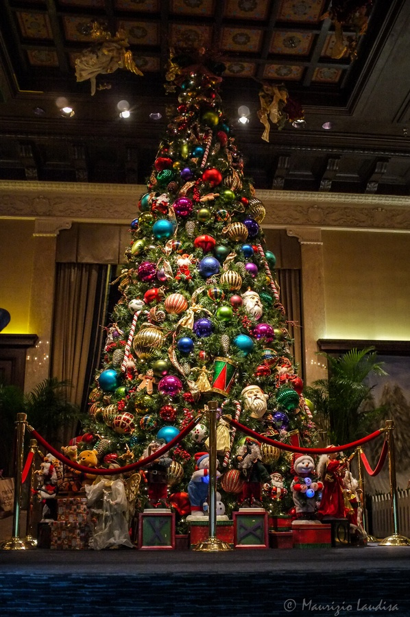 Christmas in The Lobby at the Drake, Chicago- What a fabulous place for Christmas tea! Special Memories!