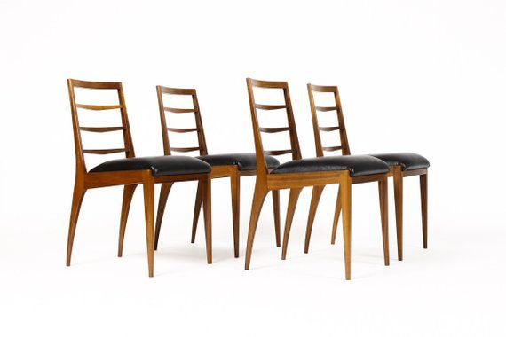 Reserved For N Danish Modern Mid Century Ladder Back Ladder Back Dining Chairs Dining Chairs Vintage Dining Chairs