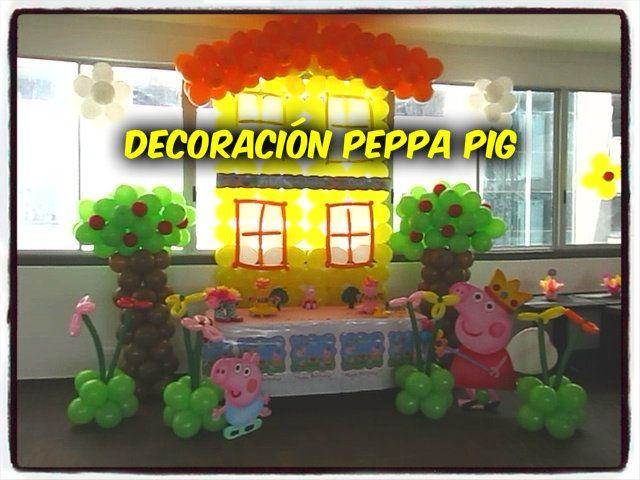 DECORACIÓN PEPPA PIG !!!