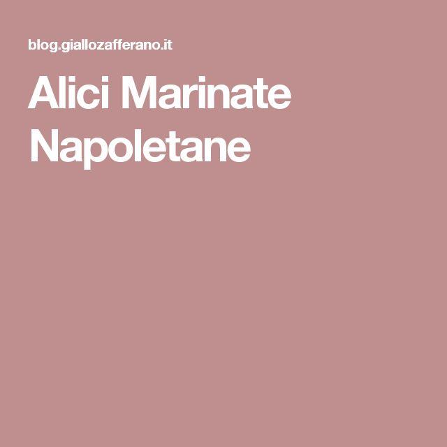 Alici Marinate Napoletane