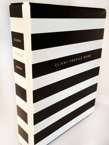 Client Profile Book (striped)