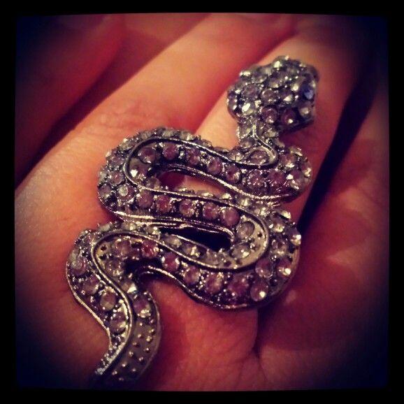 Snake Charmer ring #statementpiece #bling