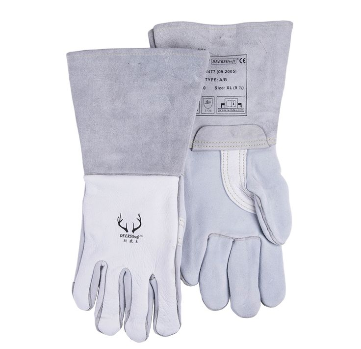 48.55$  Buy now - http://ali2ao.shopchina.info/go.php?t=32627421243 - Welding gloves quality qingpi soft gloves sweat absorbing oil  #aliexpressideas