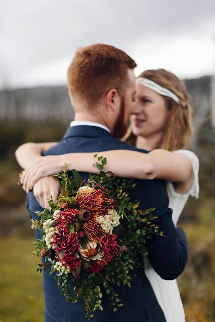 Swallows Nest Farm Waratah Wedding Bouquet,