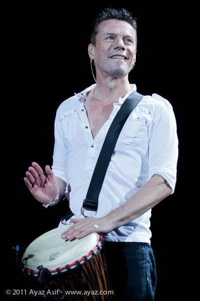 Larry Mullen Jr.  U2 - 360 Tour...blonde boyfriend!