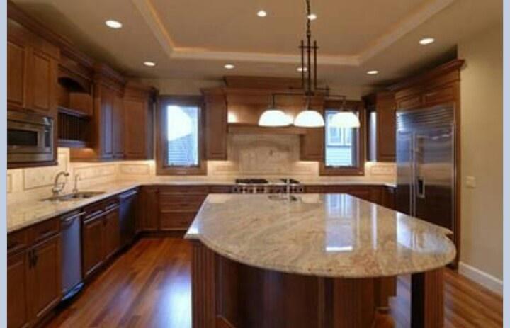 Light Granite Dark Cabinets Home Remodeling Ideas Pinterest Light Grani