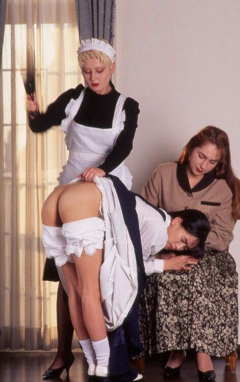 image Young ladies whipping male slave