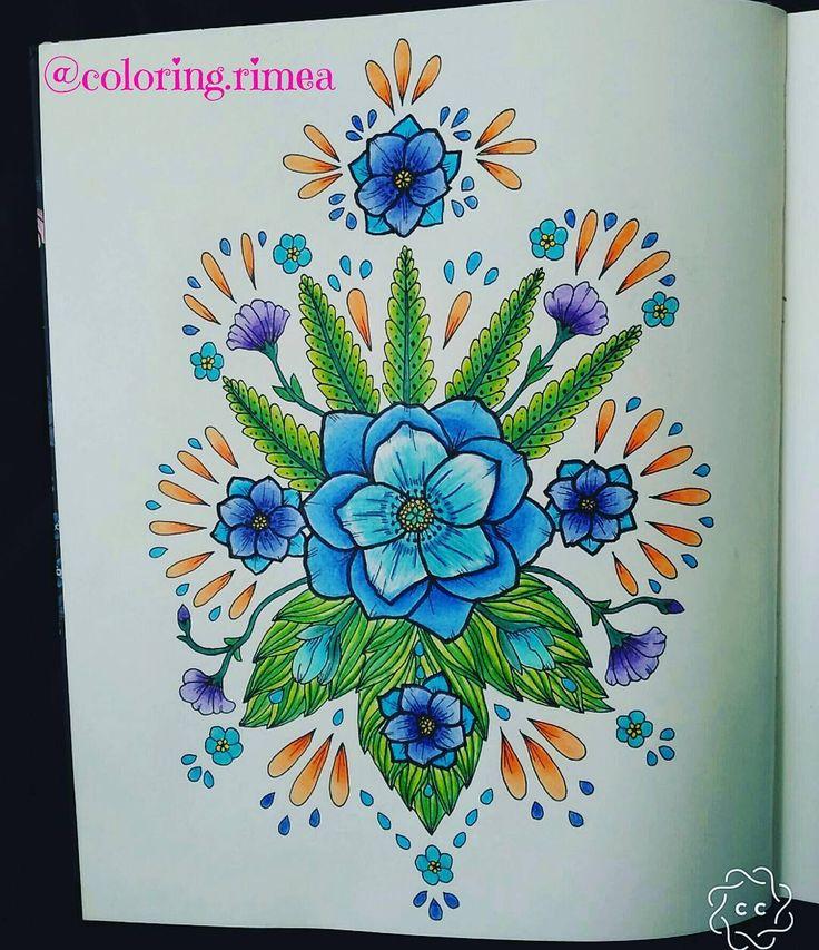 "78 To se mi líbí, 7 komentářů – °Rimea° Czech republik (@coloring.rimea) na Instagramu: ""#blomstermandala #mariatrolle #twilightgarden #coloring #omalovankyprodospele #saturday #weekend…"""