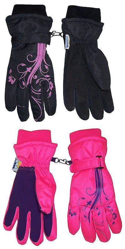 638bfdb03 Gloves and Mittens 57919: Nice Caps Girls Kids Youth Waterproof Thinsulate  Ski Snow Winter Floral
