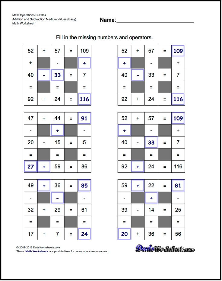 Number Grid Puzzles! Multiplication and Division with Missing Values and Operations (Medium)