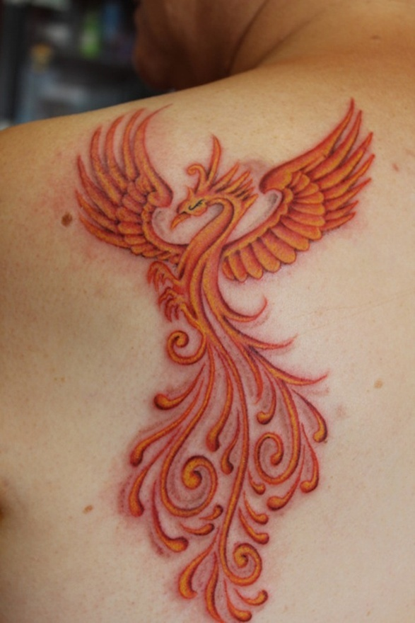 101 gorgeous phoenix tattoo designs to try in 2019 - 587×880