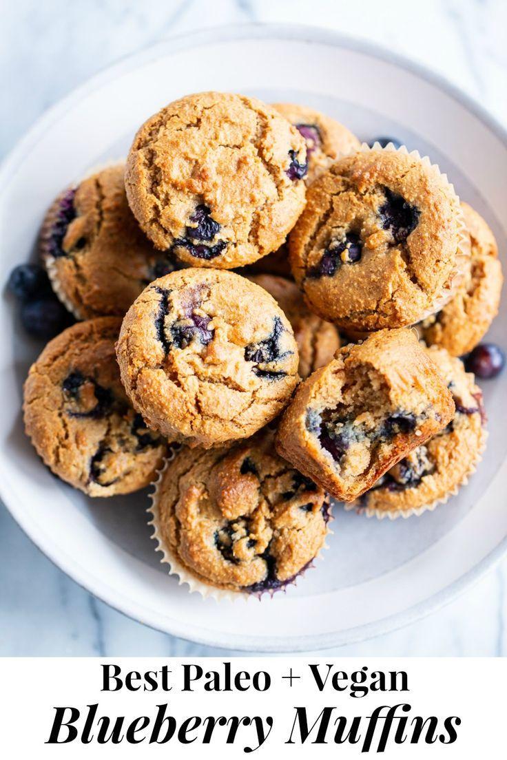 Paleo Vegan Blueberry Muffins Gluten Free Dairy Free Egg Free