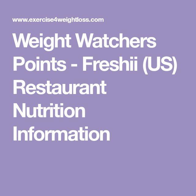 Weight Watchers Points - Freshii (US) Restaurant Nutrition Information
