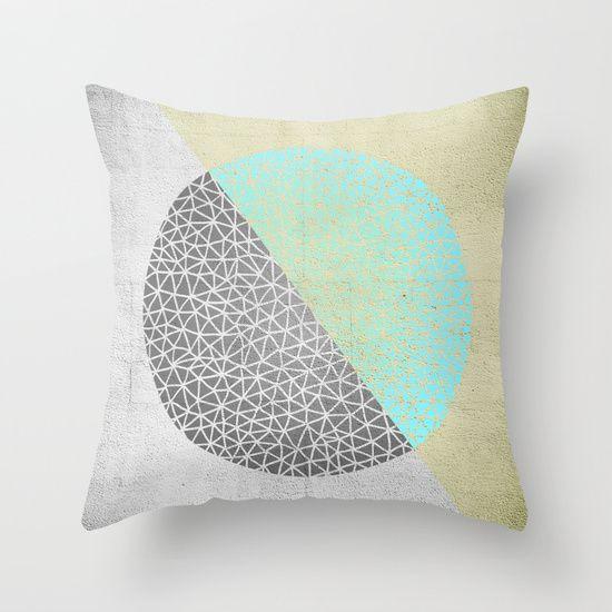Geometric doodle Gold Throw Pillow