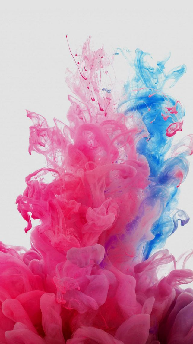 Red And Blue Smoke #iPhone #5s #Wallpaper
