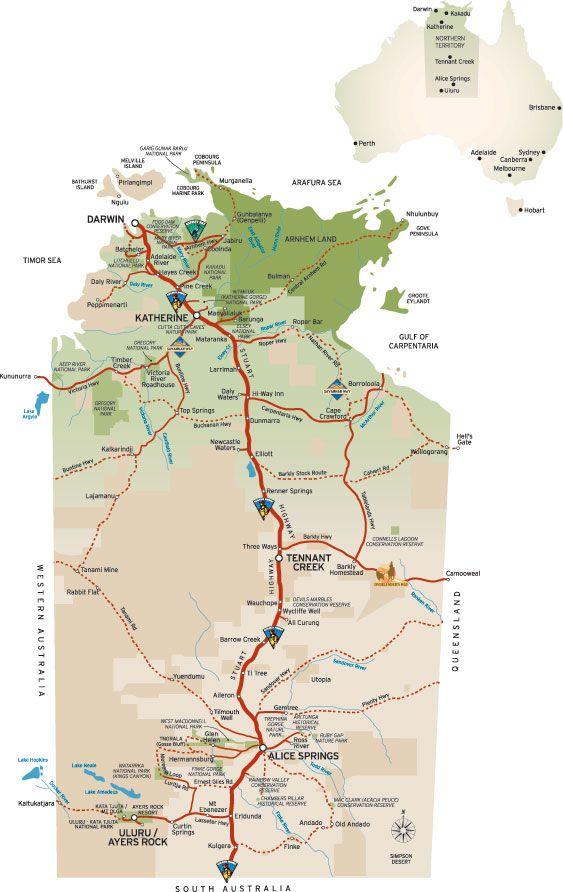 www.darwintoalicesprings.com Darwin-to-Alice-Springs-Stuart-Highway-camper-self-drive-route-travel-guide.htm