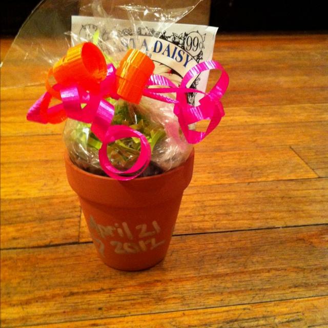 Favors In A Mini Flower Pot