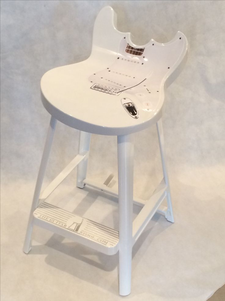 Ivory white guitar stool
