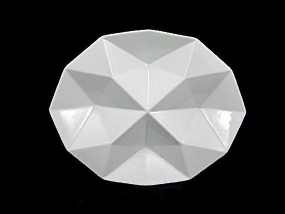 Kaj Franck Arabia of Finland Origami Plate Hors d'oeuvre Tray