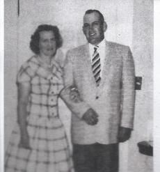 Orville Gibson (right) with his wife Evalyn.