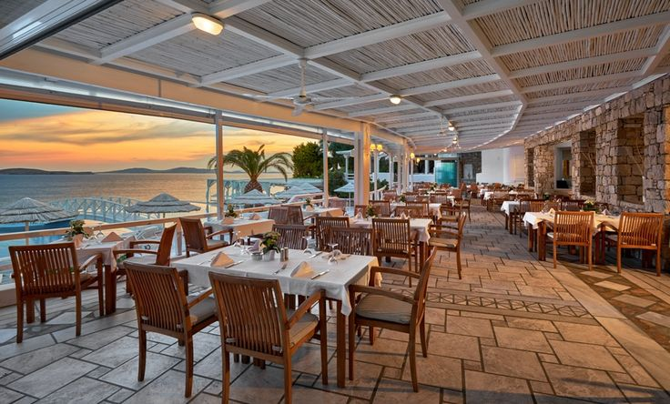 A delightful setting for marvelous #dining!  Kalimera #Restaurant beside Saint John's gorgeous infinity #pool offers all-day service of sumptuous a la carte meals or tasty snacks and refreshments!   www.saintjohn.gr