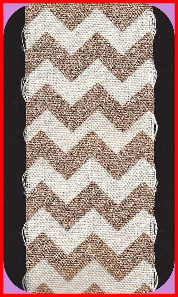 Gold and Ivory Canvas Chevron Fabric Strip 2-1/2 Inch Wide BTY  all my fabrics 40% off!