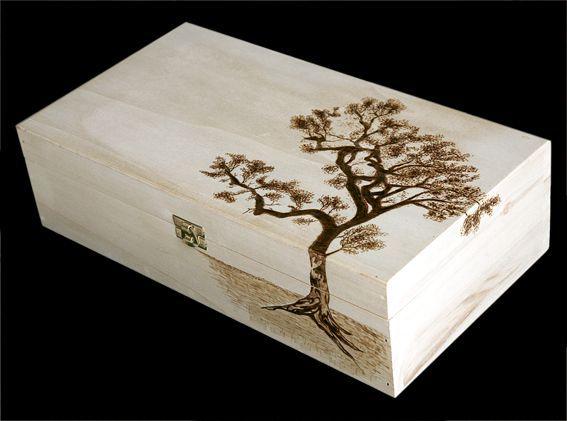 Tree Pyrography Box | tree box by ~Athanasiart on deviantART